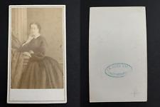 Eugénie de Montijo, impératrice CDV vintage albumen print. Tirage albumi