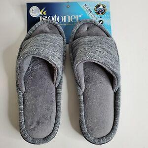 Isotoner Slippers for Women Moisture-Wicking Edhanced Cushion Gray Size 7.5-8