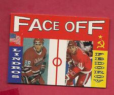 RARE OSHAWA ERIC LINDROS + CCCP FEDOROV FACE OFF CARD