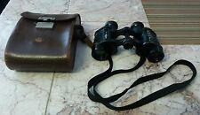 Vintage Carl Zeiss Jena D.F. 6x Military Binocular Original Leather Case w/strap