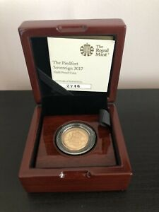 2017 Piedfort Sovereign Gold Proof Coin Double Thickness Boxed Ltd Ed 3500