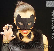 NEUF noir chat Domino Masque Halloween Super Héros pour les yeux Catwoman félin