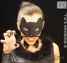 New Black Cat Domino Mask Halloween Superhero Eyemask Catwoman Feline FancyDress