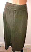 Boden Moss green long moleskin skirt size 10 A line