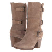 NIB Easy Spirit  Womens Leather Boots Suede Booties Black/Taupe Size7, $119
