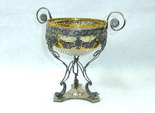 Seltene Empire Glasschale mit Silbermontur um 1800 Glas Silber Aufsatz