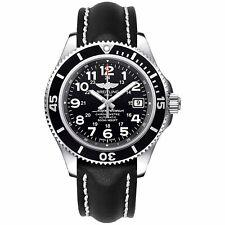 Breitling Men's A17365C9-BD67-428X Superocean 42 Automatic Black Leather Watch