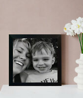 Square Sizes 20MM Black Photo White Picture Poster Print Instagram Frames Rustic