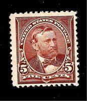 US 1894 Sc# 255 5 c ULYSSES S. GRANT  Mint NG - Centered - Crisp Color
