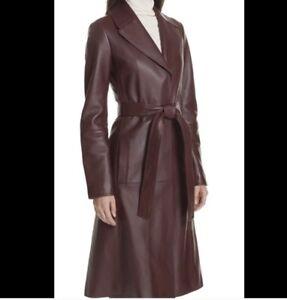 Theory Napa Leather Trench Coat