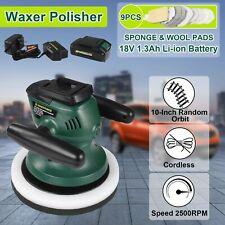 Poliermaschine 18V Akku Schleifmaschine Auto Werkzeug mit Ladegerät + Polierpad