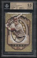 2012 Topps Gold Rush Mike Trout Wrapper Redemption RC BGS 9.5 Gem Mint