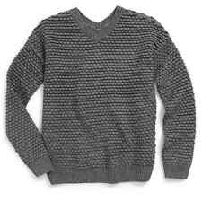 Vince Girls' Textured Chunky Knit Sweater, Dark gray, Size M/m, MSRP $128