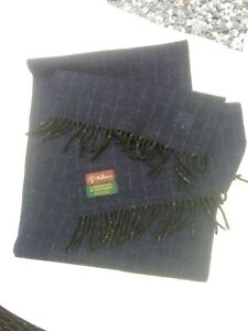 Designer Navy MULBERRY Cashmere Lambswool Scarf