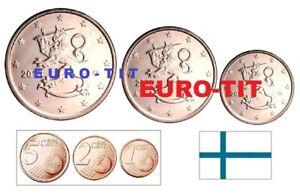 FINLANDE     PIECES  NEUVES DE   1  2   5  CENTIMES   /  2000     NOUVEAU   2000