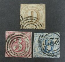 nystamps German States Thurns & Taxis Stamp # 53-55 Used $95 U4x3102