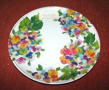 "Set of (4) RACHEL ZOE 11"" Dinner Plates (100% Melamine) PANSY/ PANSIES"
