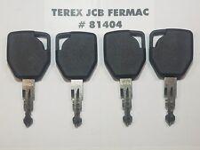 (4) Terex Keys, Fermac, JCB Backhoe, Heavy Equipment Ignition Starter Key,..
