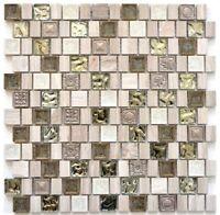Mosaik Fliese Transluzent Resin Keramik Feinsteinzeug grauweiß WB82-2002  1Matte