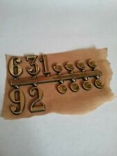 """Gold Plastic Dial Markers set of 12. 3/4"""" New Old Stock"""