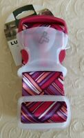 NWT Travelon Basketweave Geometric Print Luggage Strap Travel Bag Suitcase