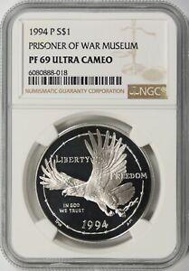 1994-P Prisoner of War (POW) Memorial $1 Dollar NGC PF69 Ultra Cameo