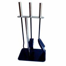 Compact Modern Fireside Companion Tool Set Size H46cm x W24cm x L46cm