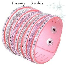Baby Pink Swarovski Elements Cuff Bracelet by Harmony Bracelets