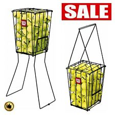 Tennis Ball Hopper Cart Basket Pick Up Holder Compact Storage Portable Accessori
