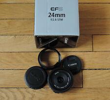 24 mm 1 : 2.8 EF-S STM Canon EF pour EOS D