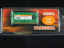 LAPTOP MEMORY 2 GB DDR3 Computer Memory stick 1333 PC3 SODIMM
