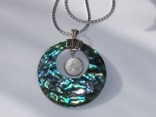 Abalone Shell Round Costume Necklaces & Pendants