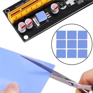 Blue 100x100mm x 1mm GPU CPU Heatsink Cooling Thermal Conductive Silicone Pad