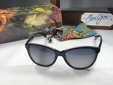Nice! Maui Jim Canna MJ 769-02K Black & Crystal Sunglasses W/Gray Polarized Lens