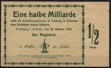 [15724] - Notgeld FREIBURG i. SCHLESIEN (heute: Świebodzice), Stadt, 1/2 Mrd Mk,