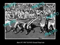 OLD POSTCARD SIZE PHOTO OF THE STURT FC 1967 SANFL GRAND FINAL WIN