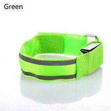 Reflective LED Light Arm Armband Strap Safety Belt for Night Running Cycling Green