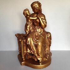 """Vtg Artistic Royal Krafts 1805 Statue Figurine Mother holding Child Large 16"""""""