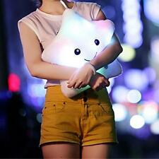 Soft Stuffed Cushion Plush LED Stars Reading Pillow Kids Toy Girl Gift White UP
