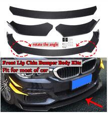 3Pcs Universal For Car Truck SUV Black Glossy Front Bumper Lip Spoiler Splitter