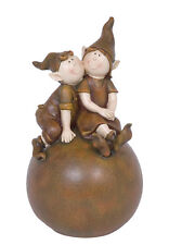 Double Gnome Sitting on Ball Figurine -  RAI 73013