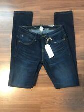 Women's ELEMENT Denim Dark Blue Wash Fiddler Skinny Jeans Sz 25 Ankle Crop