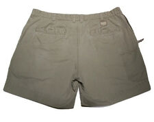 Men's Columbia 6 Pocket Shorts Green Khaki Button Snap Zipper fly sz 42 FastShip