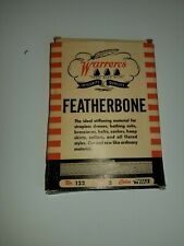 Vintage Warrens Featherbone Stiffening Material for Dresses Belts #122 White Box