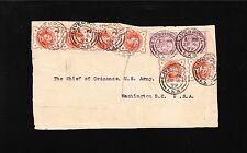 Great Britain Multiple Victoria Franking Liverpool 1899 Front Ordnance Chief ^