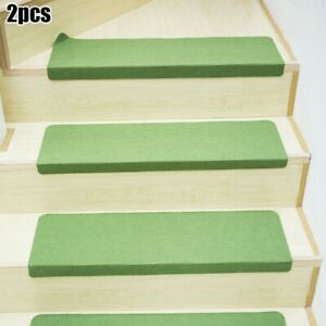 2Pcs Stair Tread Mats Step Floor Staircase Non-Slip Mat Protection Cover Pads