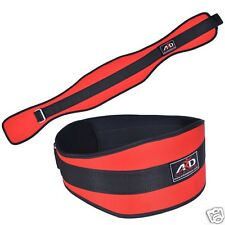 ARD WEIGHT LIFTING BELT GYM WORKOUT POWER LIFTING BACK SUPPORT RED X-L