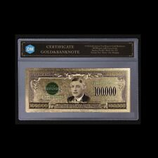 US Gold Banknote 1934 Year 100000 Usd Bill Note Paper Money with Plastic Card
