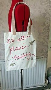 Radley Cotton Tote Bag BNWT  'Plain Sailing ' 16 x 13.5 inches