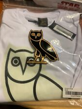 NEW October's Very Own OVO After Dark Owl Logo Tee WHITE T-Shirt XLARGE Drake